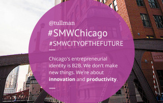 Chicago's entrepreneurial identity is B2B. We're about innovation and productivity. -@tullman #SMWChicago #SMWCityoftheFuture